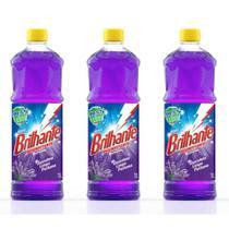 Brilhante Lavanda Desinfetante 1 L (Kit C/03) -