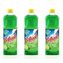 Brilhante Limão Desinfetante 1 L (Kit C/03) -
