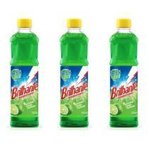 Brilhante Limão Desinfetante 500ml (Kit C/03) -