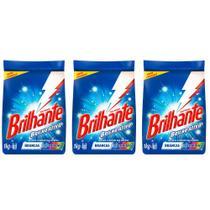 Brilhante Multi Tecidos Detergente Em Pó 1kg (Kit C/03) -