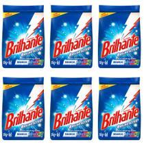 Brilhante Multi Tecidos Detergente Em Pó 1kg (Kit C/06) -