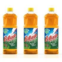 Brilhante Pinho Desinfetante 1 L (Kit C/03) -