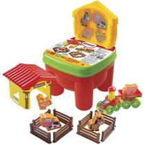 Brincadeira fazendinha brinquedo educativo c/cadeirinha - DISMAT