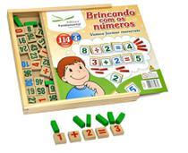 Brincando Com Os Números 114 Peças Em Madeira - Editora Fundamental
