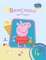 Brincando Com Peppa - Atividades Para Crianças A Partir de 4 Anos - Com Adesivos! - Salamandra
