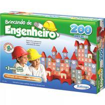 Brincando De Engenheiro 200 Peças Xalingo -