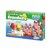 Brincando De Engenheiro 200 Peças - Xalingo -