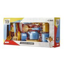 Brincando de Ser Conjunto Cozinha com Acessórios Indicado para +3 Anos Azul/Amarelo Multikids - BR956 -