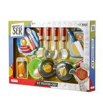 Brincando de Ser Kit Pequeno Chef com Acessórios Indicado para +3 Anos Multikids - BR954 -
