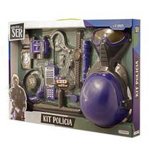 Brincando de Ser Kit Polícia Com Acessórios Indicado para +3 Anos Multikids - BR965 -