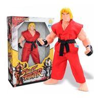 Brinque boneco street fighter ken 30 cm - Brinquedos anjo -