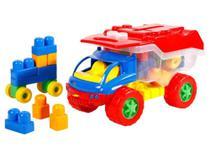 Brinquedo 2 em 1 Mini Caminhão Infantil Divertido Dismat Blocos de Montar -