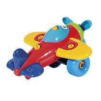 Brinquedo Avião Didático Infantil para Montar e Desmontar Poliplac -