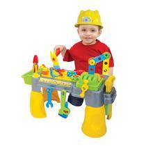 Brinquedo Bancadinha De Ferramentas Com Capacete - Maral -