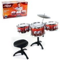 Brinquedo Bateria Musical Infantil Junior Com Tambor Baquetas - Wellmix