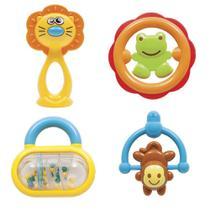 Brinquedo Bebê Conjunto De Chocalhos Baby - Buba -