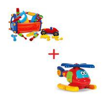 Brinquedo Bebê Menino Caixa De Ferramentas + Avião Educativo - Poliplac
