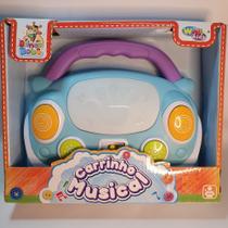 Brinquedo Bebê Musical Carro Infantil Teclado Seguro Baby Azul - Emporio Magazine