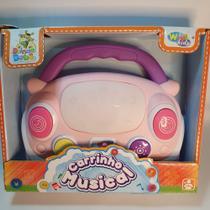 Brinquedo Bebê Musical Carro Infantil Teclado Seguro Baby Rosa - Emporio Magazine