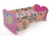Brinquedo berço bercinho de bonecas madeira Alf Brinquedos -