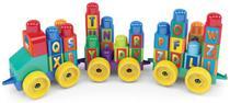 Brinquedo Blocos De Montar Trenzinho Educativo 44 Peças - Dismat