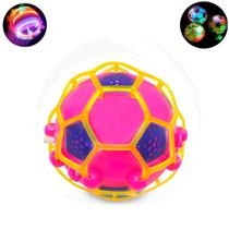 Brinquedo Bola Maluca Bebê Criança Pula Vibra C/ Luz De Led - Fisgar