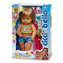Brinquedo Boneco Cicciobello da DTC toma sol fica moreno -