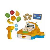 Brinquedo caixa registradora big shop bip som luz acessorios divertidos com app de celular - Usual Plastic