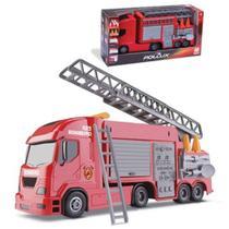 Brinquedo Caminhãozinho Bombeiro Caminhão Infantil com Acessórios - Silmar