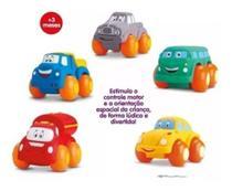 Brinquedo Carrinhos Soft Cars Mordedor Para Bebe  Divertoys -