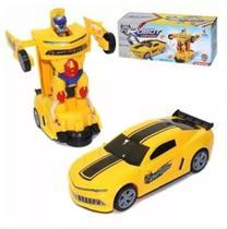 Brinquedo carro de robô amarelo - Yijun