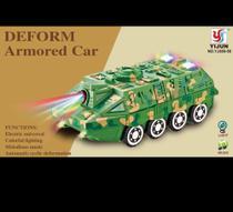 Brinquedo carro de tanque com som e luz - Yijun