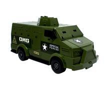 Brinquedo carro forte cofre veiculo militar com 2 bonecos soldados - Omg Kids