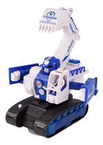 Brinquedo carro robô a pilha escavadeira - 3D