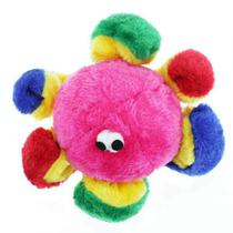 Brinquedo Chalesco Para Cães Pelúcia Polvo Colorido -