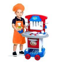 Brinquedo Cozinha Completa C/fogão Infantil Menino Play Time - Cotiplas