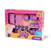 Brinquedo Cozinha Judy Home Fogãozinho Geladeira e Acessórios as Portas da Geladeira e do Armário Abrem - 127171 - Samba Toys