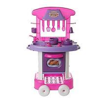 Brinquedo Cozinha Play Time Rosa Com Acessórios Infantil - Cotiplás