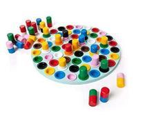 Brinquedo de Educativo Desafio das Cores - Novo 61 peças - Hergg