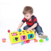 Brinquedo De Encaixe Caixa Encaixa 18 PCs - Estrela -