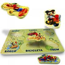 Brinquedo de Madeira Encaixe Mickey Disney - Toyng -
