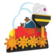 Brinquedo de Parede Autoadesivo - Trenzinho de Madeira - Sr Urso - Oribel -