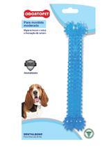Brinquedo Dental Bone Azul Cães Mordida Moderada até 22 Kg - Odontopet