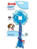 Brinquedo Dental Bone Estrela com Corda Cães Mordida Moderada até 15 Kg Odontopet -