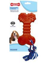 Brinquedo Dental Bone Flat com corda Cães Mordida Moderada até 22 Kg - Odontopet