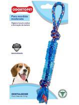Brinquedo Dental Bone Tubo com Corda Cães Mordida Moderada até 15 Kg Odontopet -