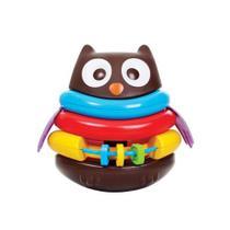 Brinquedo didático corujinha empilhavel maral -