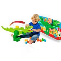Brinquedo Didatico Dinossauro Jurassic com 30 Blocos de Montar - Cardoso Toys