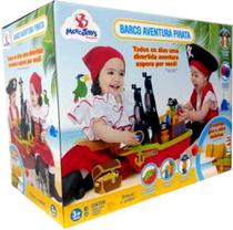 Brinquedo Didático Educativo Barco Aventura Pirata Caixa - Mercotoys