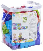 Brinquedo Didático Infantil Mega M-Bricks 93 peças - Maral -
